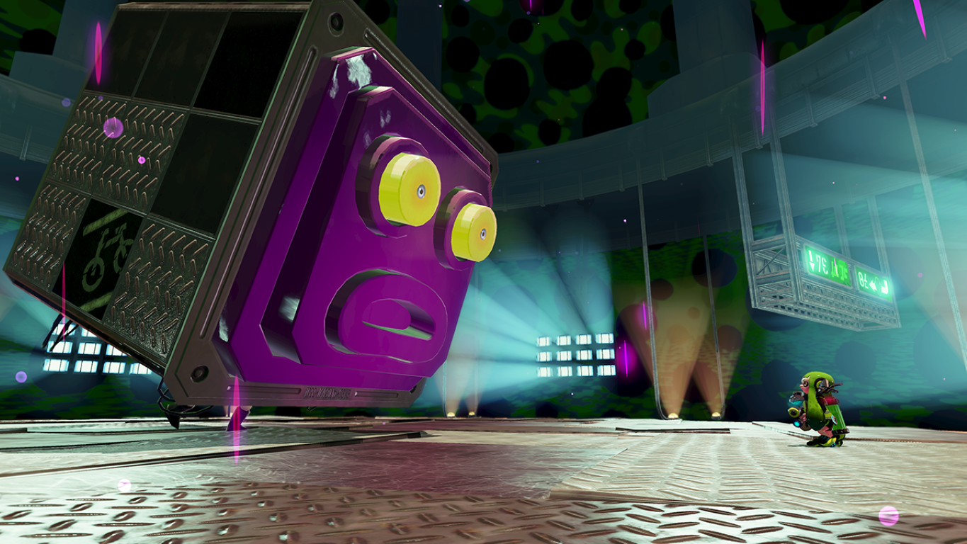"The first boss in the single player campaign, the ""Octostamp""."