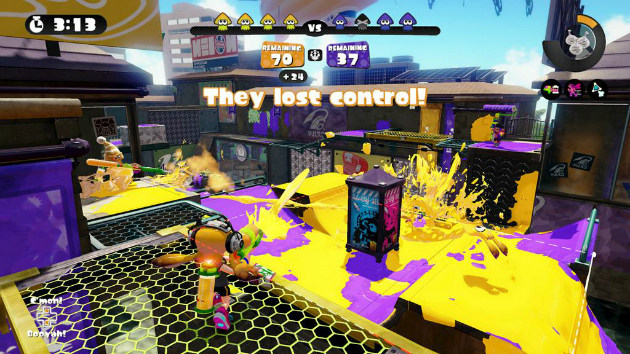 A screenshot of ranked mode in Splatoon.